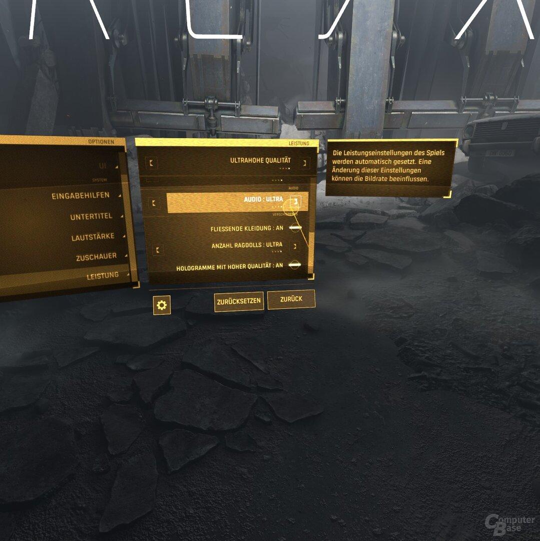 Das Grafikmenü von Half-Life: Alyx