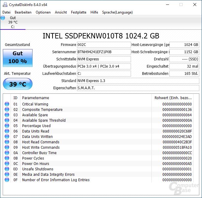 SSD im Asus Zephyrus G14