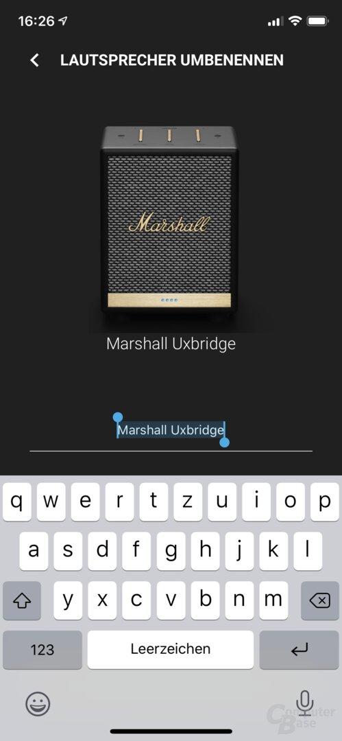 Marshall-Voice-App mit dem Uxbridge Voice
