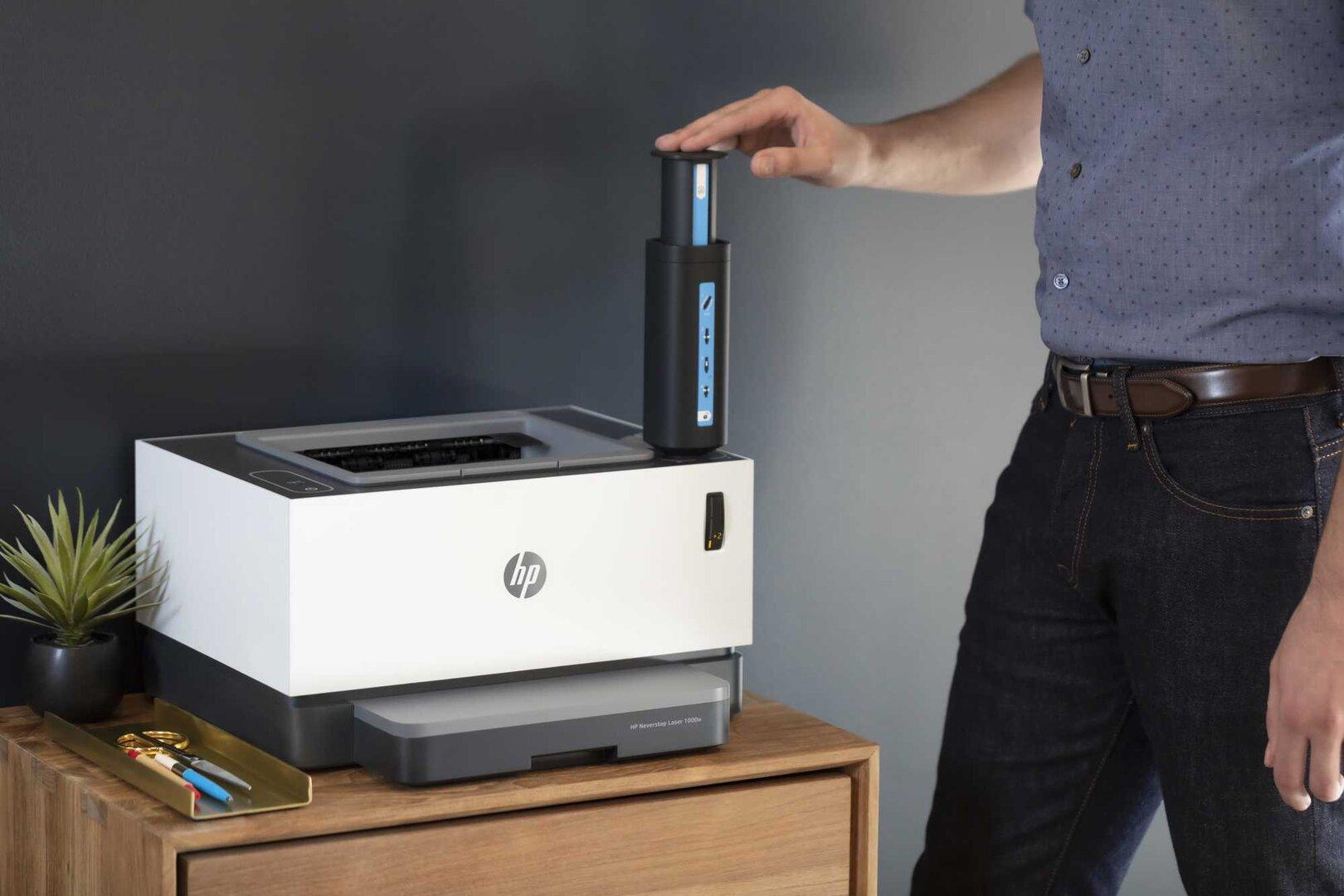 HP Neverstop Laser mit Nachfüll-Spritze