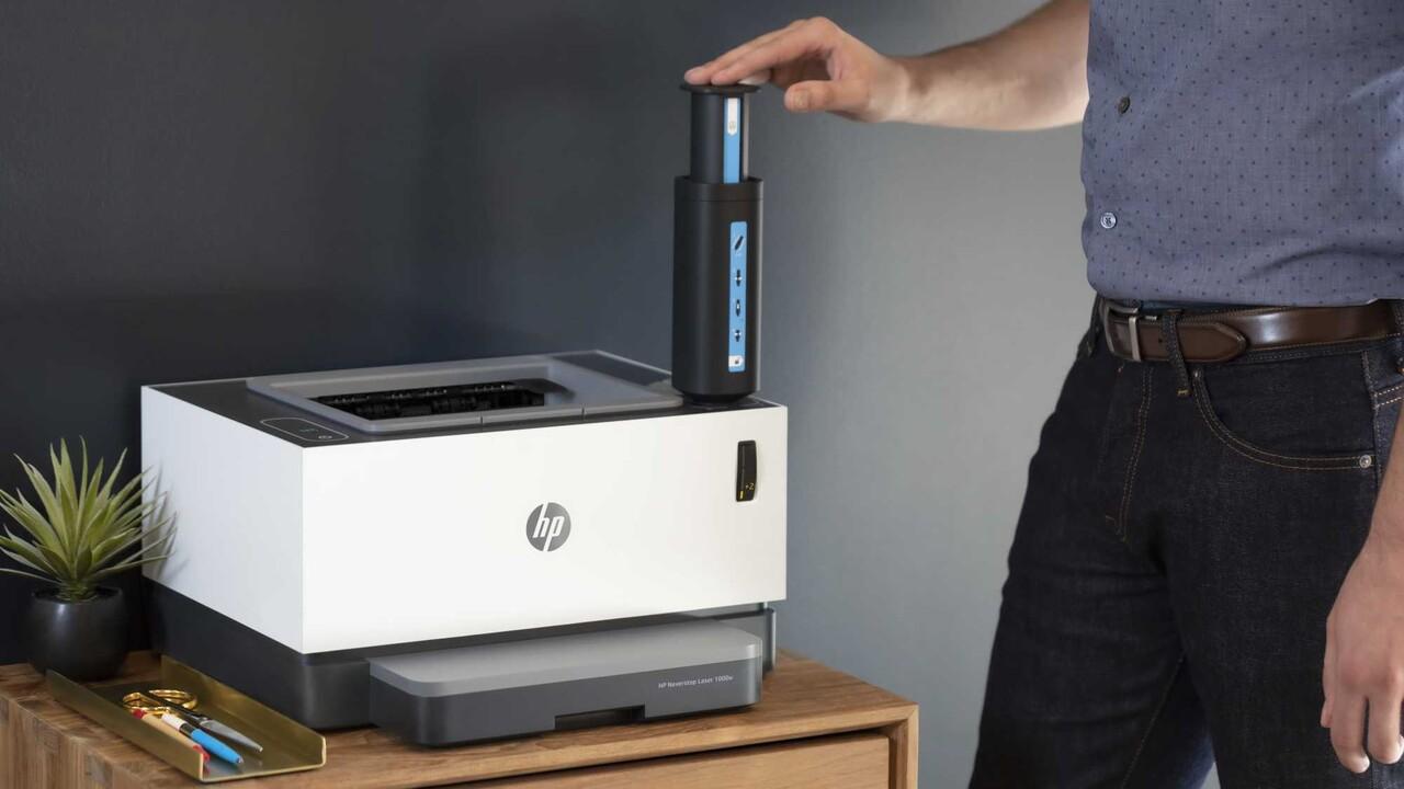 HP Neverstop: Neue Laserdrucker werden mit Spritze aufgetankt
