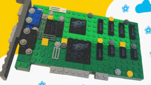 Lego Ideas: Die 3dfx Voodoo aus Klemmbausteinen umgesetzt