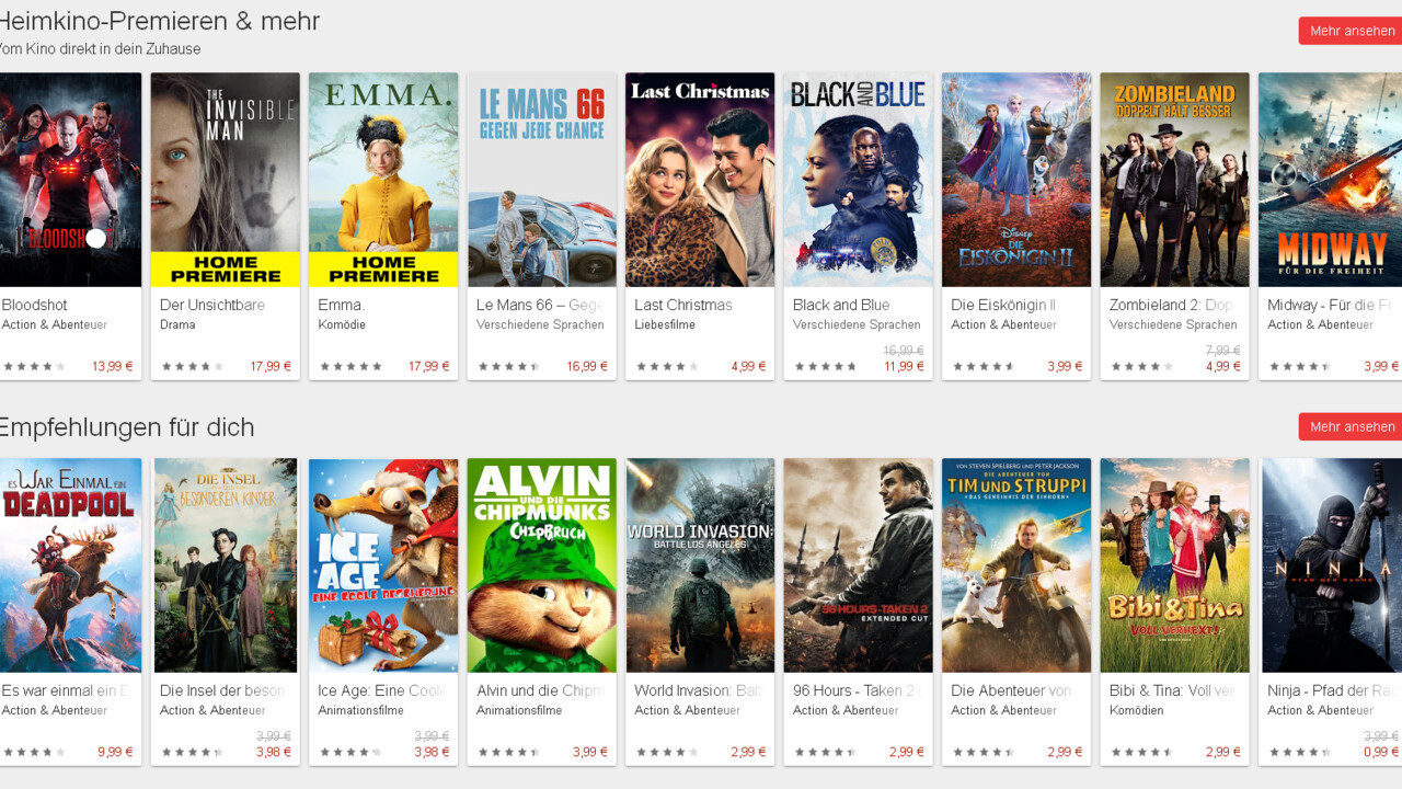 Google Play Store: Neue Version deutet auf kostenlose Filme hin