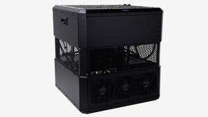 Quader-Gehäuse: In Alphacools Mining Cube 300 schuften 9 Grafikkarten