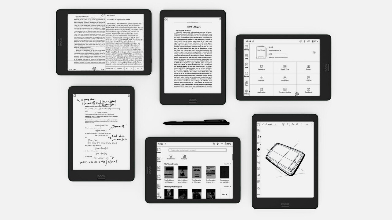 Boox Nova 2: Tablet-Hybrid mit E-Ink-Display und Stifteingabe