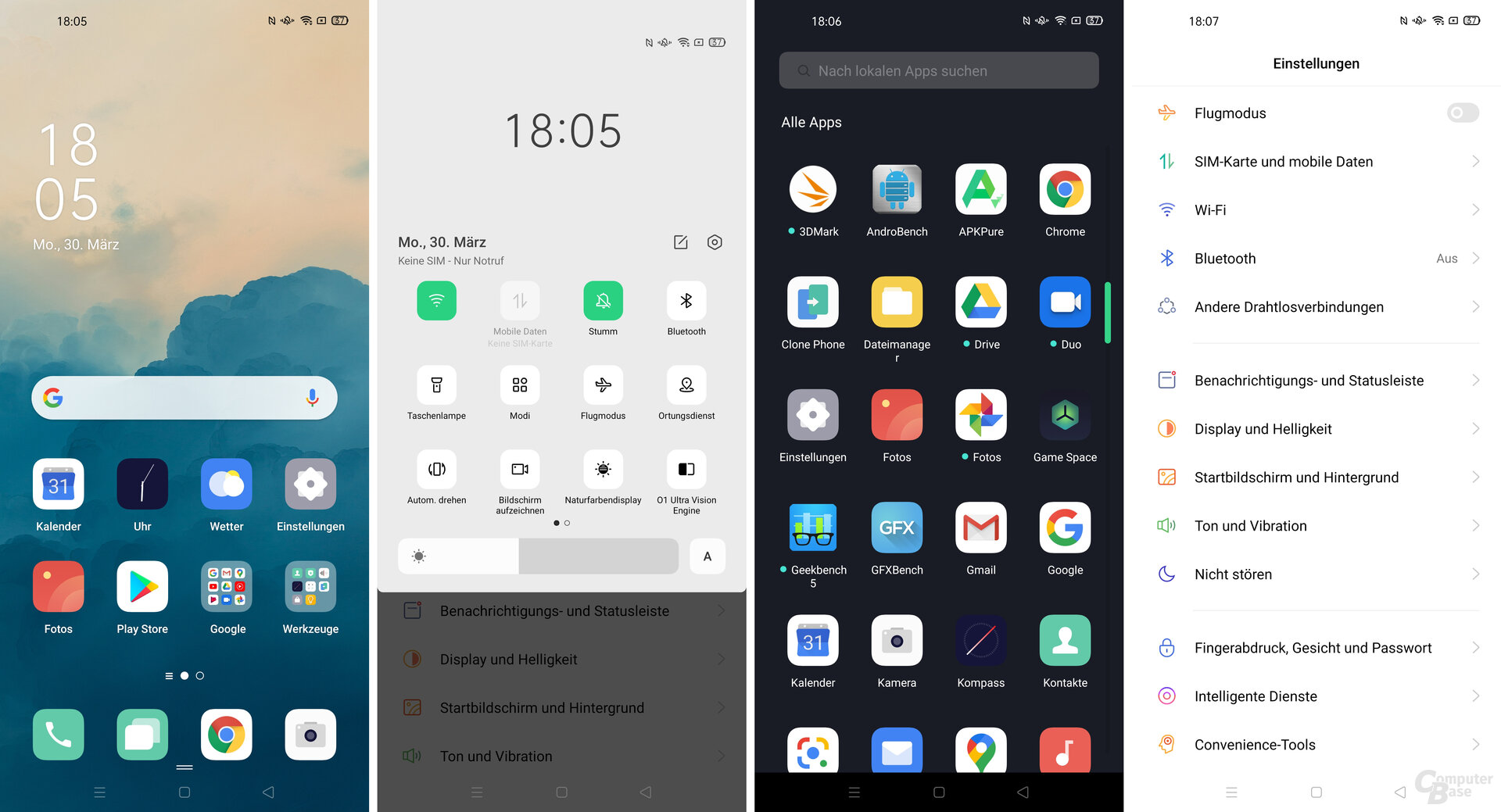 Android 10 mit ColorOS 7.1