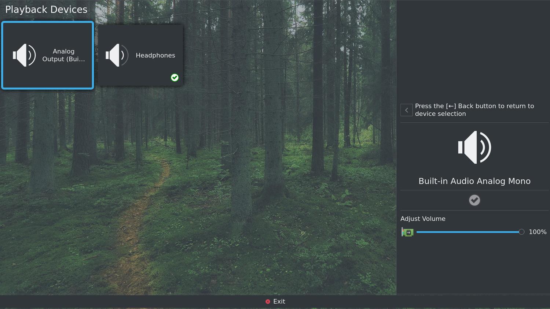 Audio-Einstellungen unter KDE Plasma Bigscreen