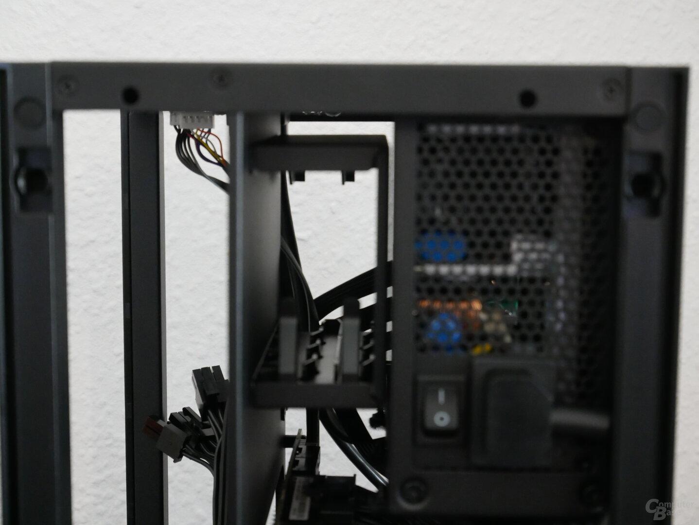 H1 schwarz Laufwerkkäfig