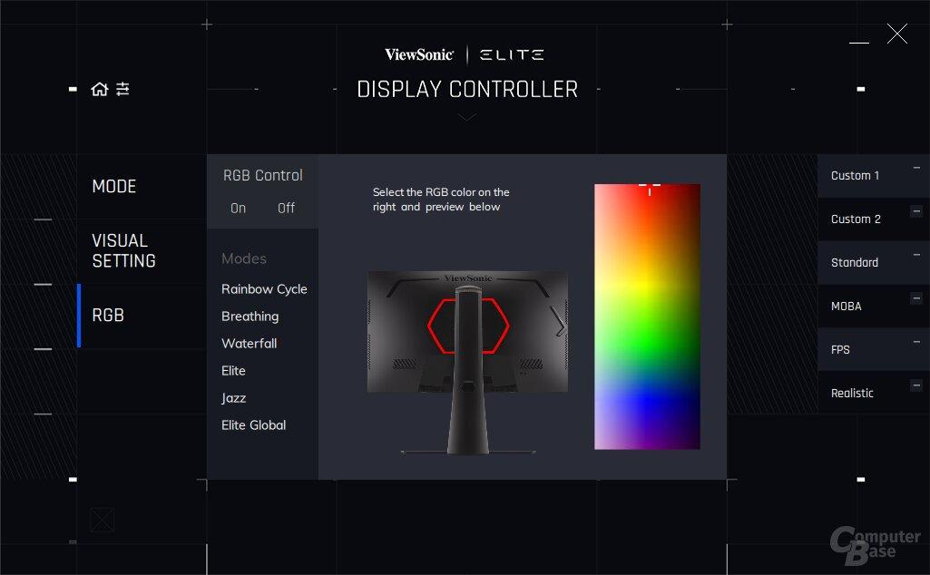 ViewSonic Elite Display Controller mit XG270