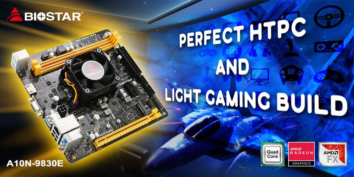 Biostar A10N-9830E – Mainboard mit verlöteter AMD-APU für Casual-Gamer