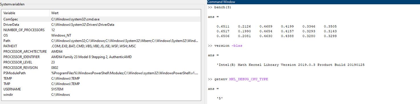 Automatisch gesetzte System Variable in Matlab R2020a