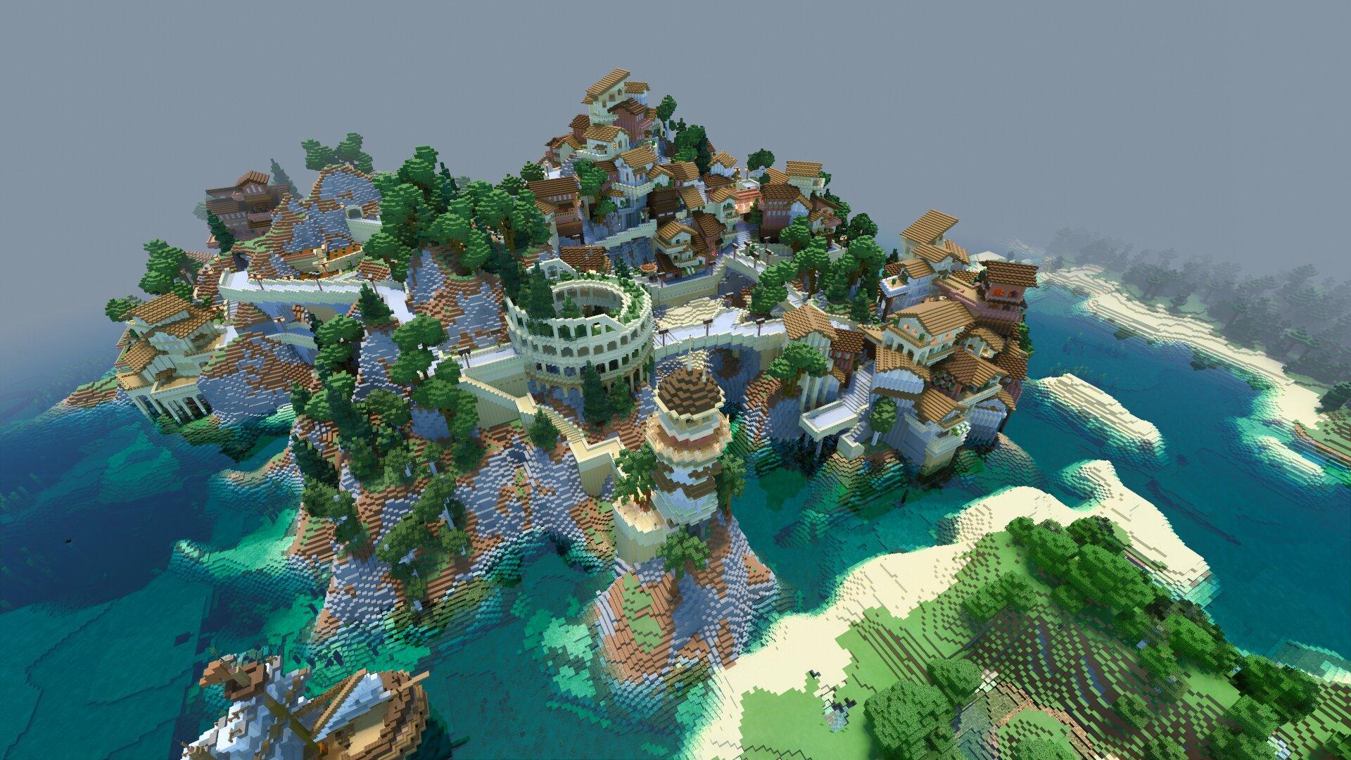 Von Minecraft Java umgewandelte Welt – RTX On