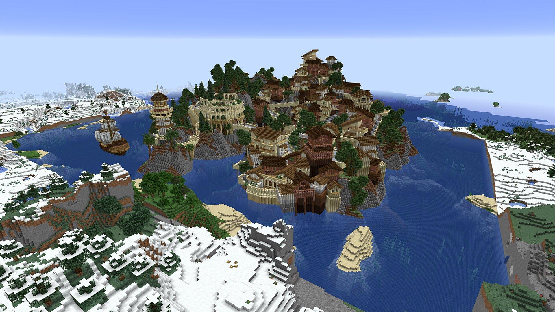 Von Minecraft Java umgewandelte Welt – RTX Off