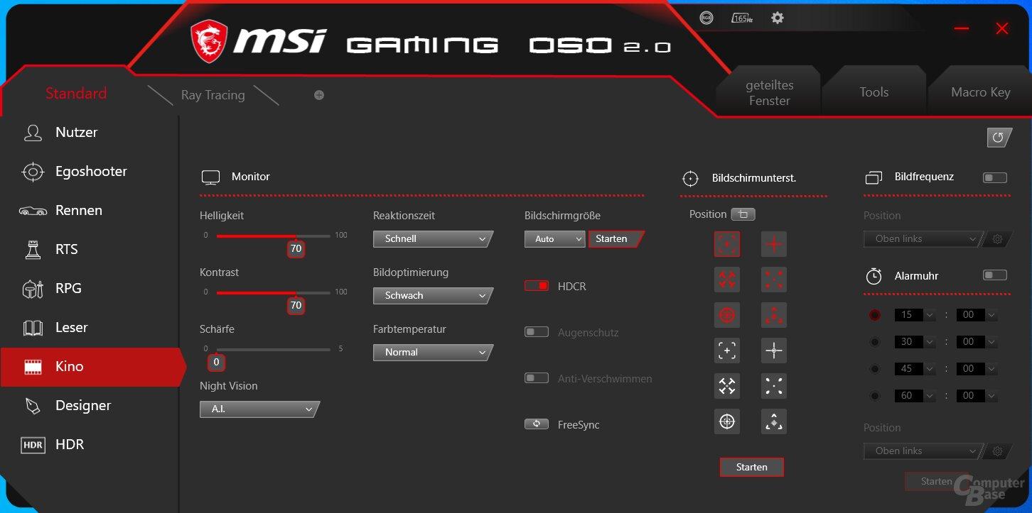 Gaming OSD 2.0 mit MSI Optix MAG272CQR