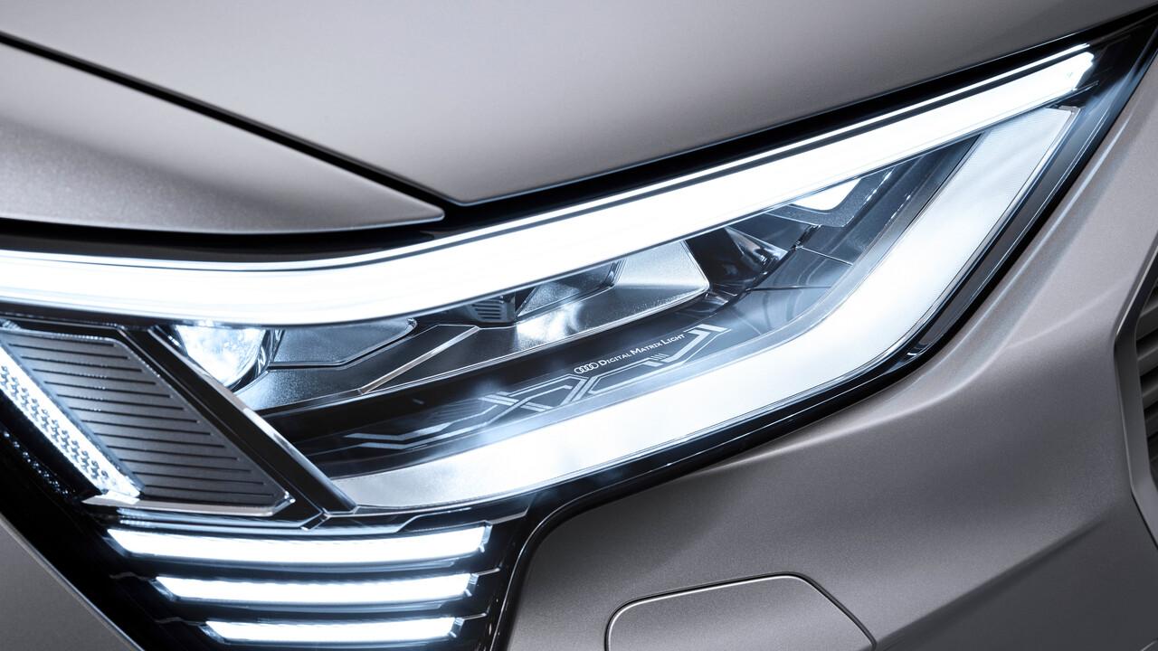 Audi e-tron Sportback: Neue Matrix-LED-Scheinwerfer bieten eine Million Lichtpixel