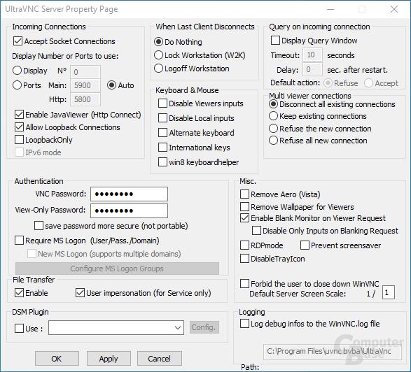 UltraVNC – Server