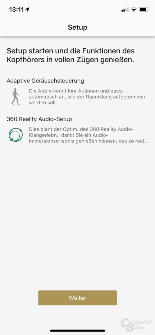 Sony Headphones-App mit WF-1000XM3