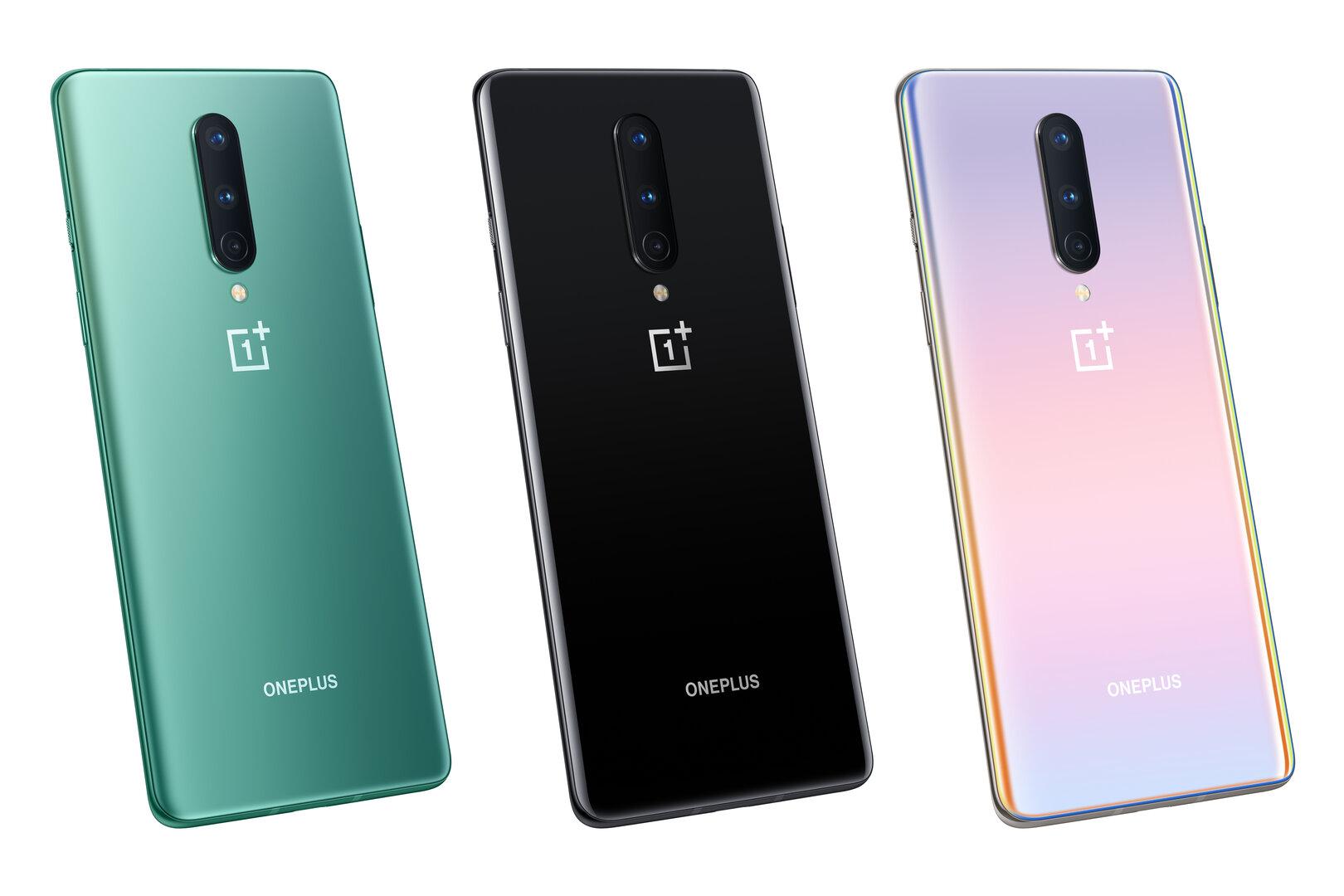 OnePlus 8 im Farbvergleich