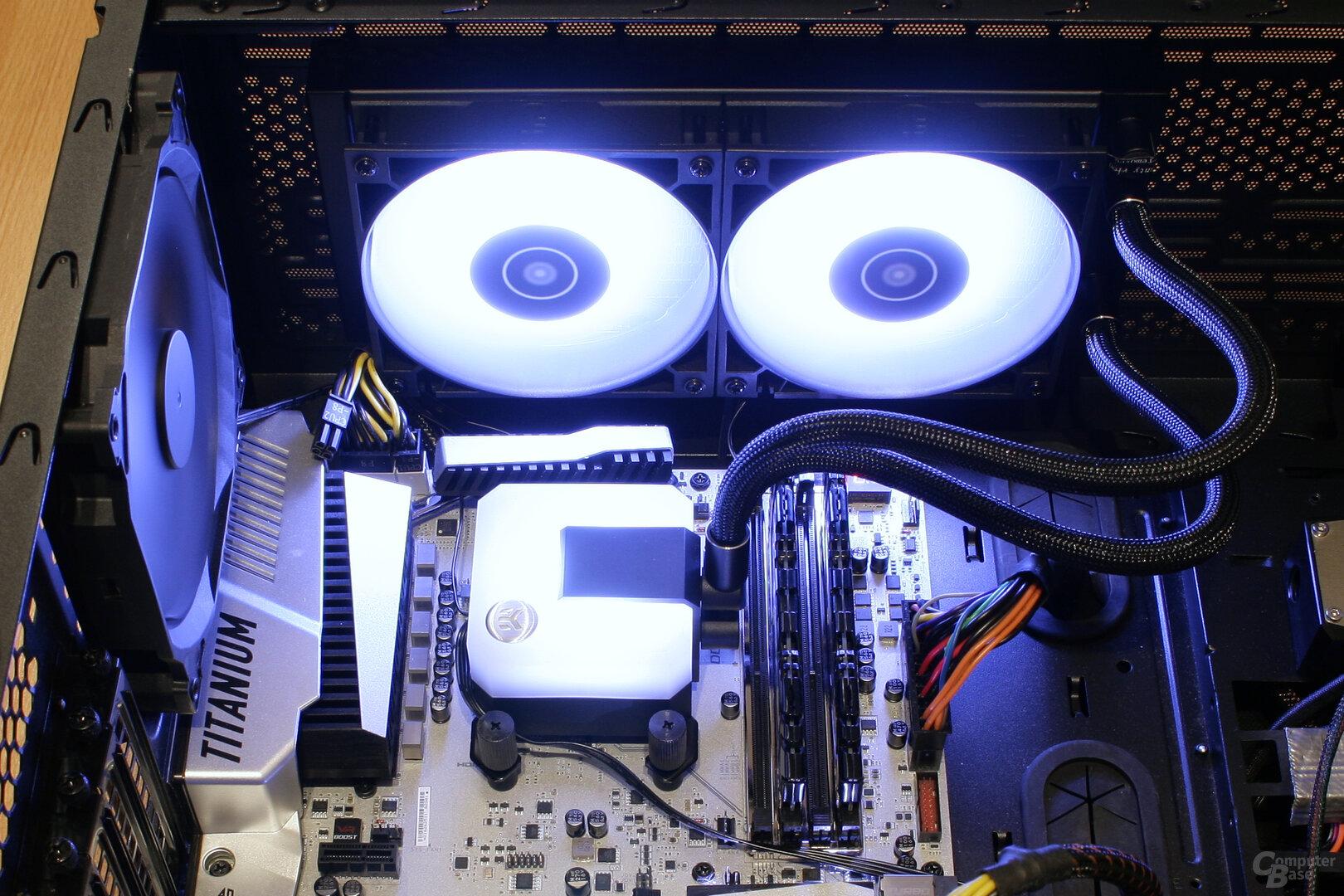 EK Water Blocks EK-AIO 240 D-RGB im Testsystem