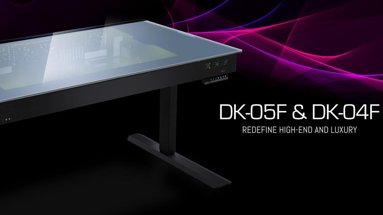 Tisch-Gehäuse: Lian Li DK-04 und DK-05 bekommen schlaues Glas