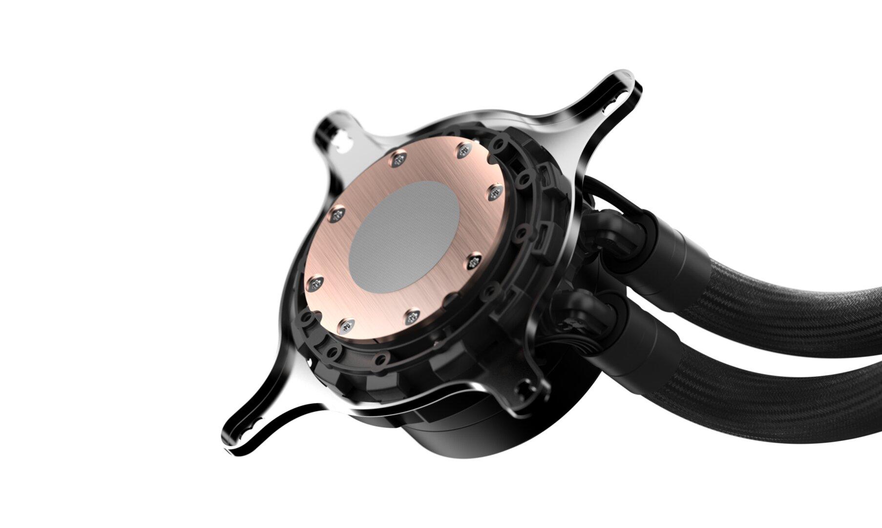 Fractal Design Celsius+ – die Bodenplatte der Pumpe