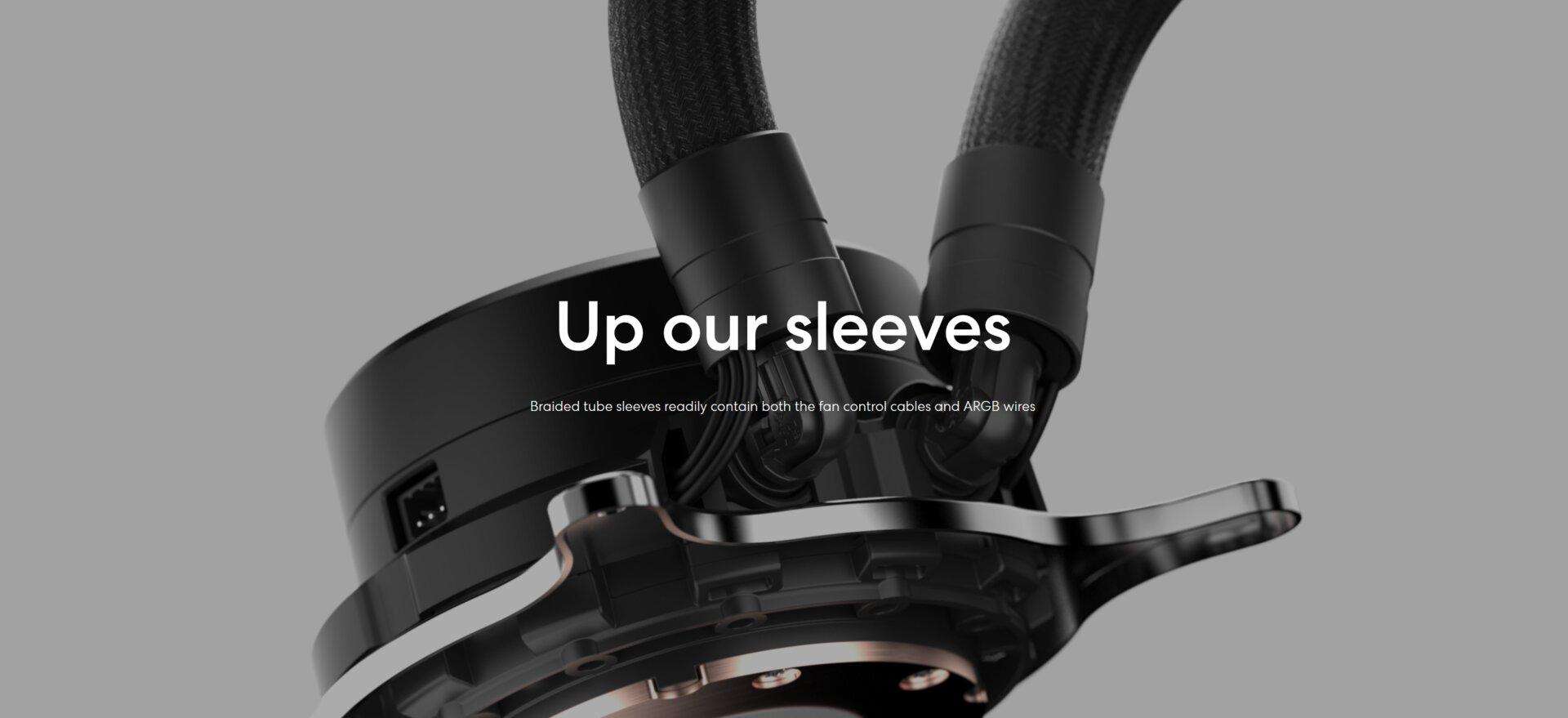 Fractal Design Celsius+ - die Kabelführung direkt mit den Schläuchen