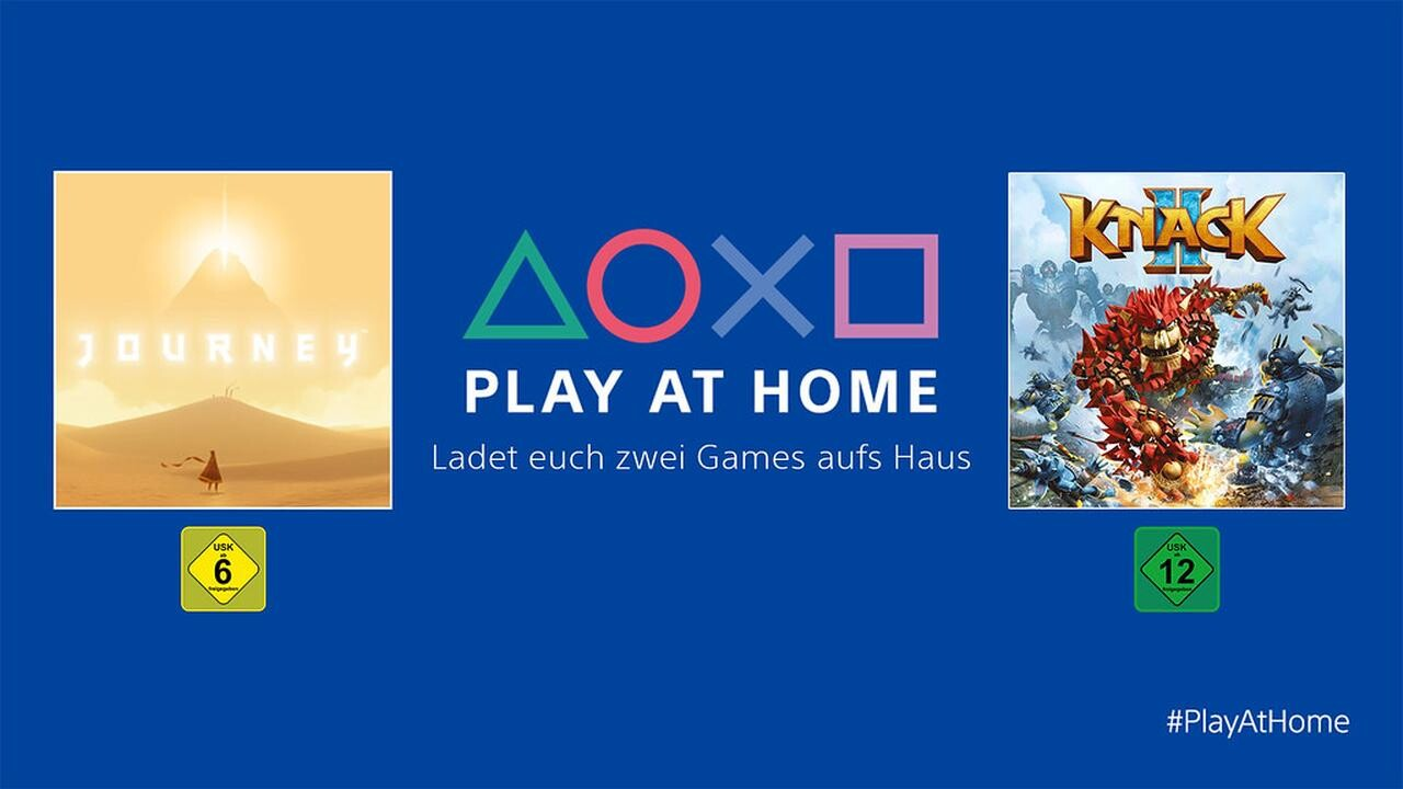 Play At Home: Sony verschenkt Journey und Knack 2 für PlayStation 4