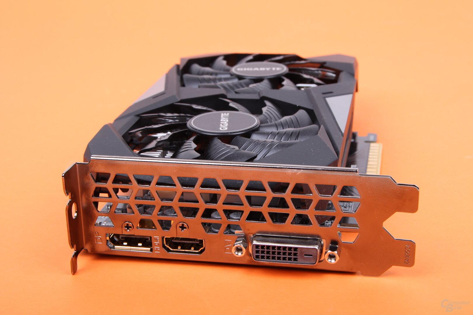 Monitoranschlüsse auf der Gigabyte GeForce GTX 1650 GDDR6 WindForce OC