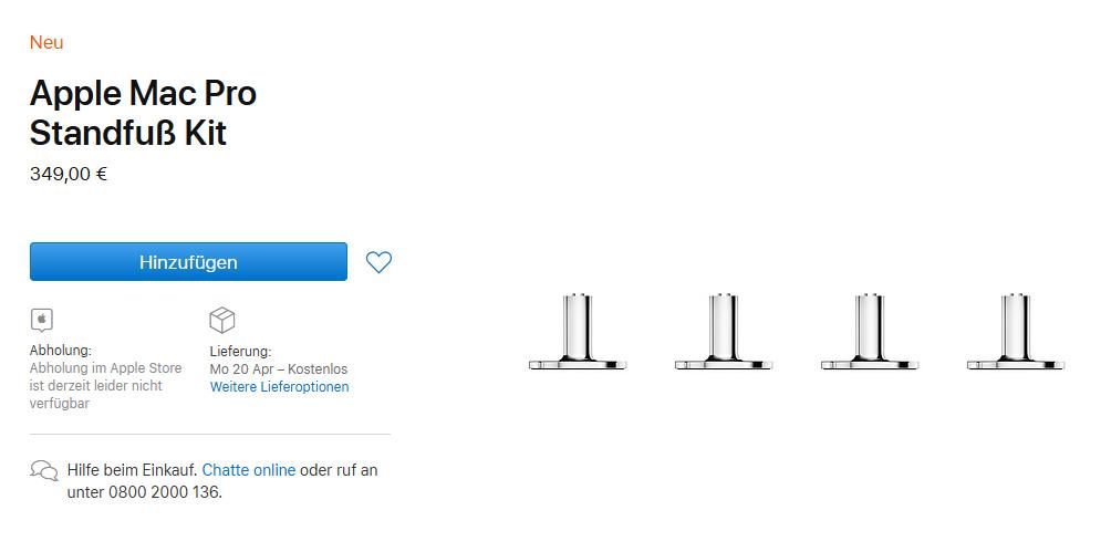 Apple Mac Pro Standfuß Kit