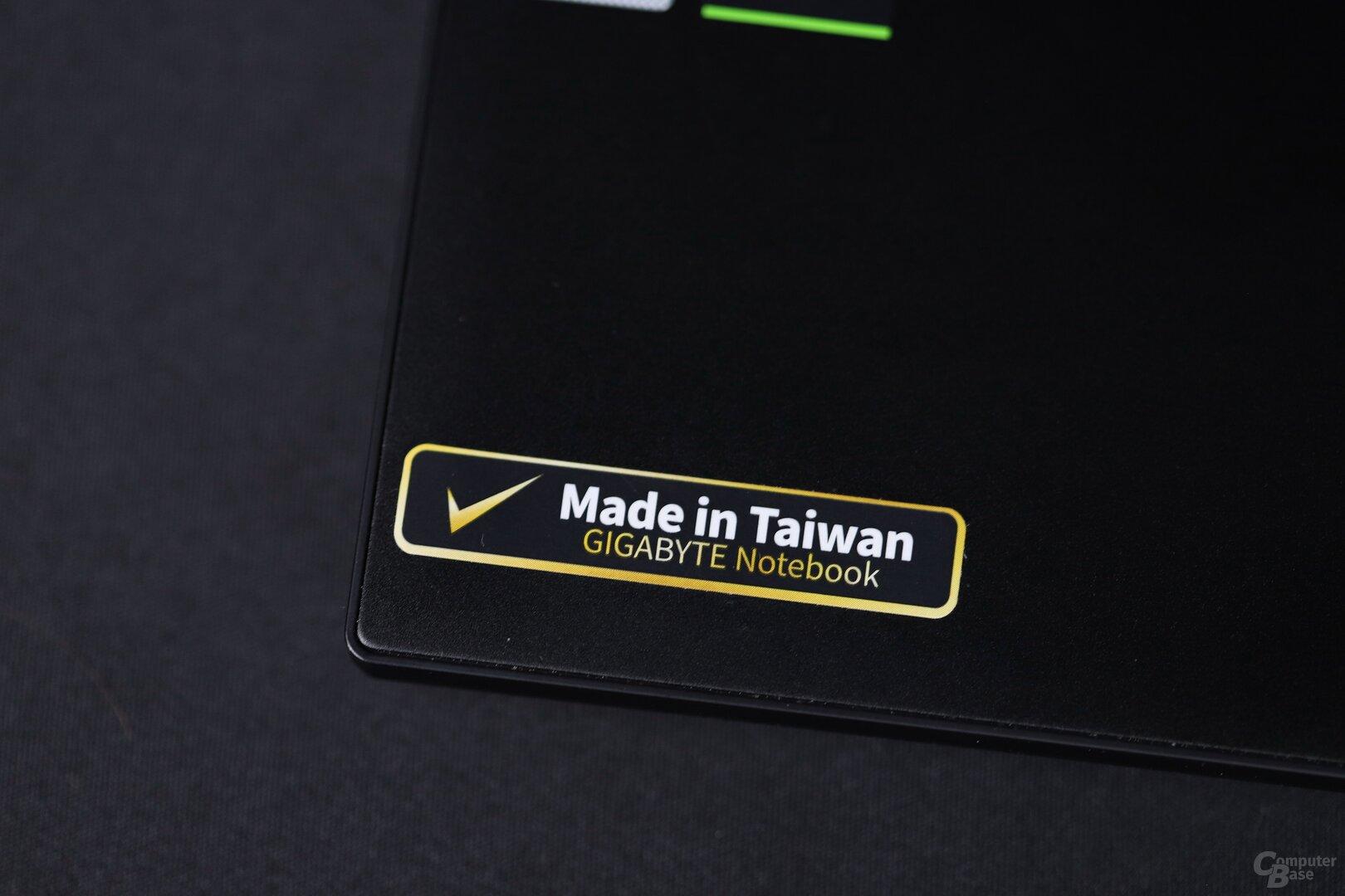 """تعلن جيجابايت عن """"صنع في تايوان"""" في Aero ، وليس في الصين"""