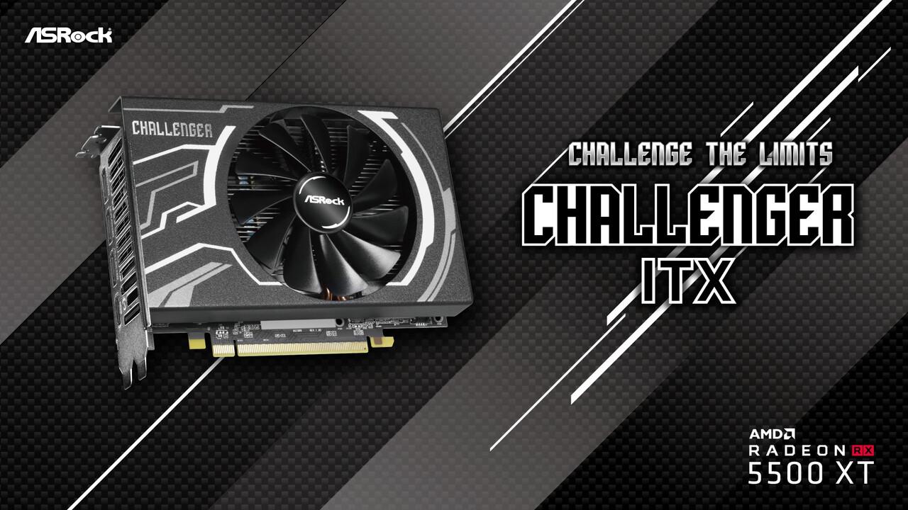ASRock: Radeon RX 5500 XT Challenger ITX ist die Kleinste