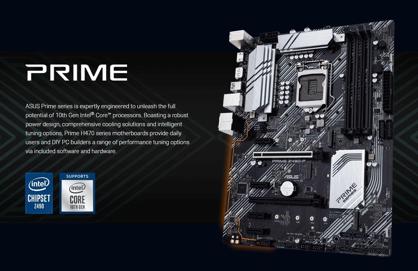 Asus Prime Z490-P – Übersicht und Ankündigung