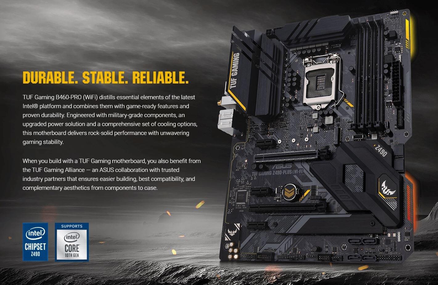 Asus TUF Gaming Z490-Plus – Übersicht und Ankündigung