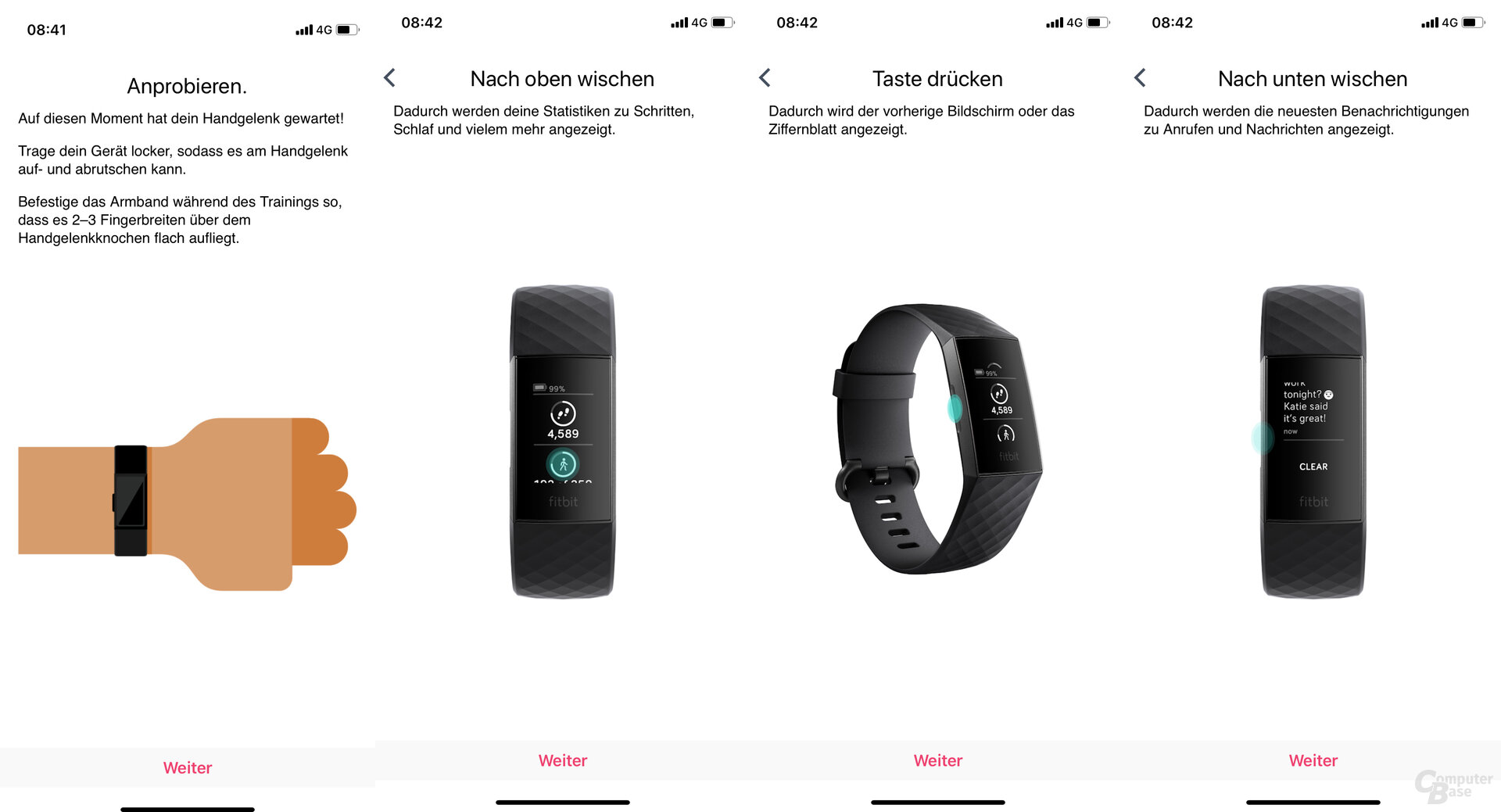 Fitbit Charge 4 im Test: Hinweise zur Nutzung