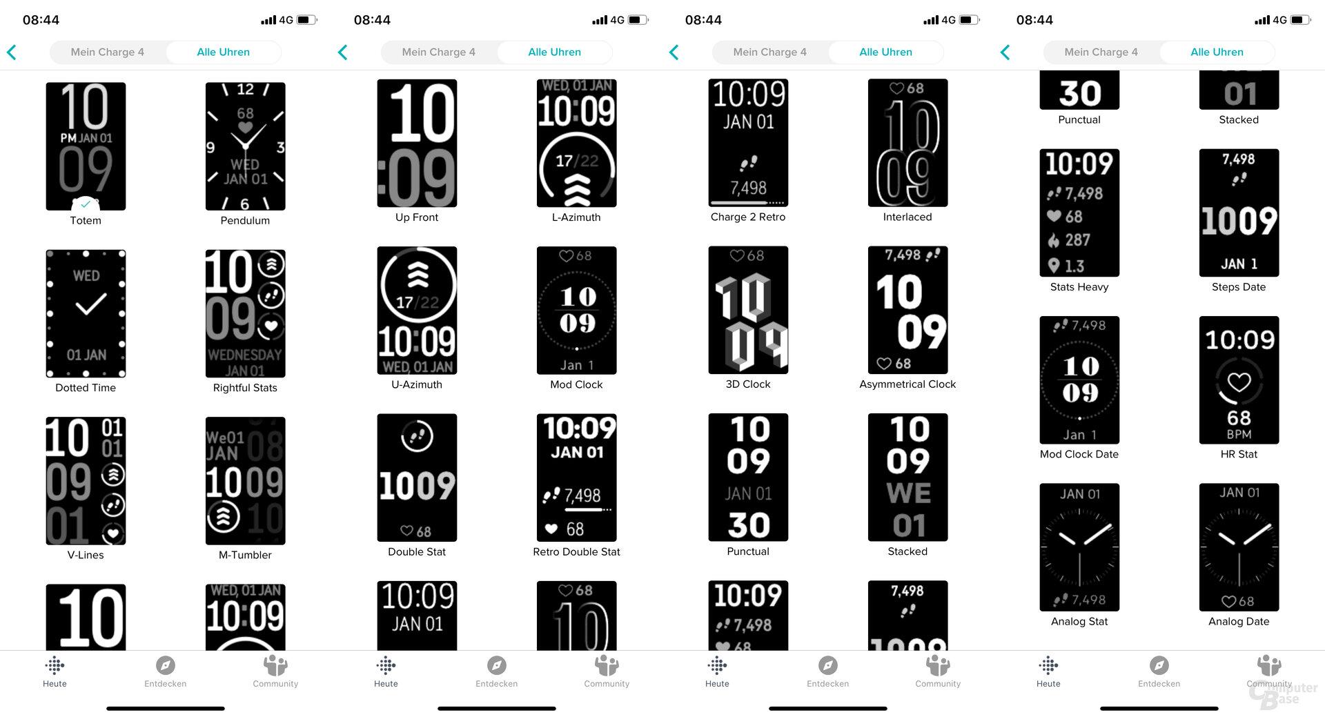 Fitbit Charge 4 im Test: Große Ziffernblattauswahl
