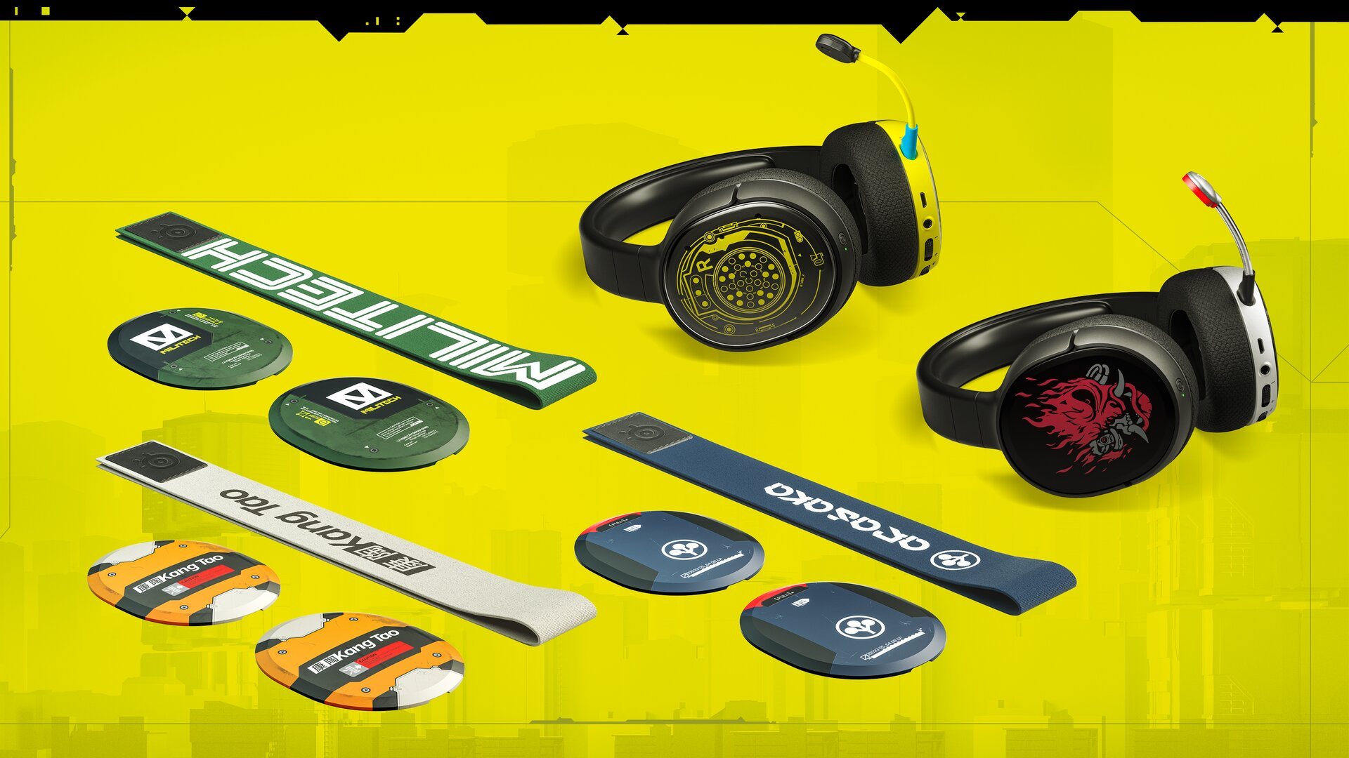 Arctis-1-Headsets als limitierte Cyberpunk 2077 Edition
