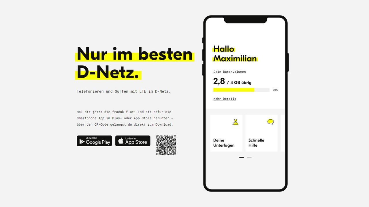 Fraenk: Deutsche Telekom startet 10-Euro-Tarif mit 4GB im LTE-Netz