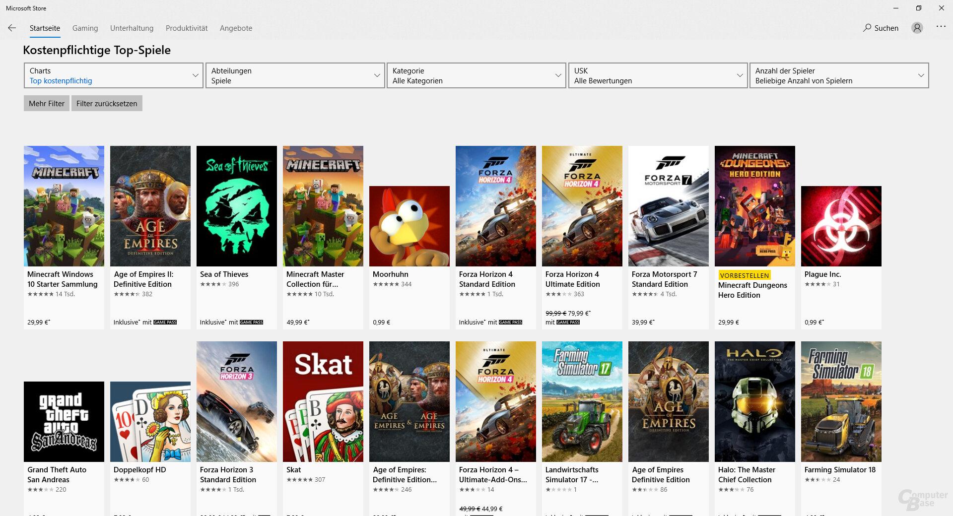 Top-Spiele im Microsoft Store für x86