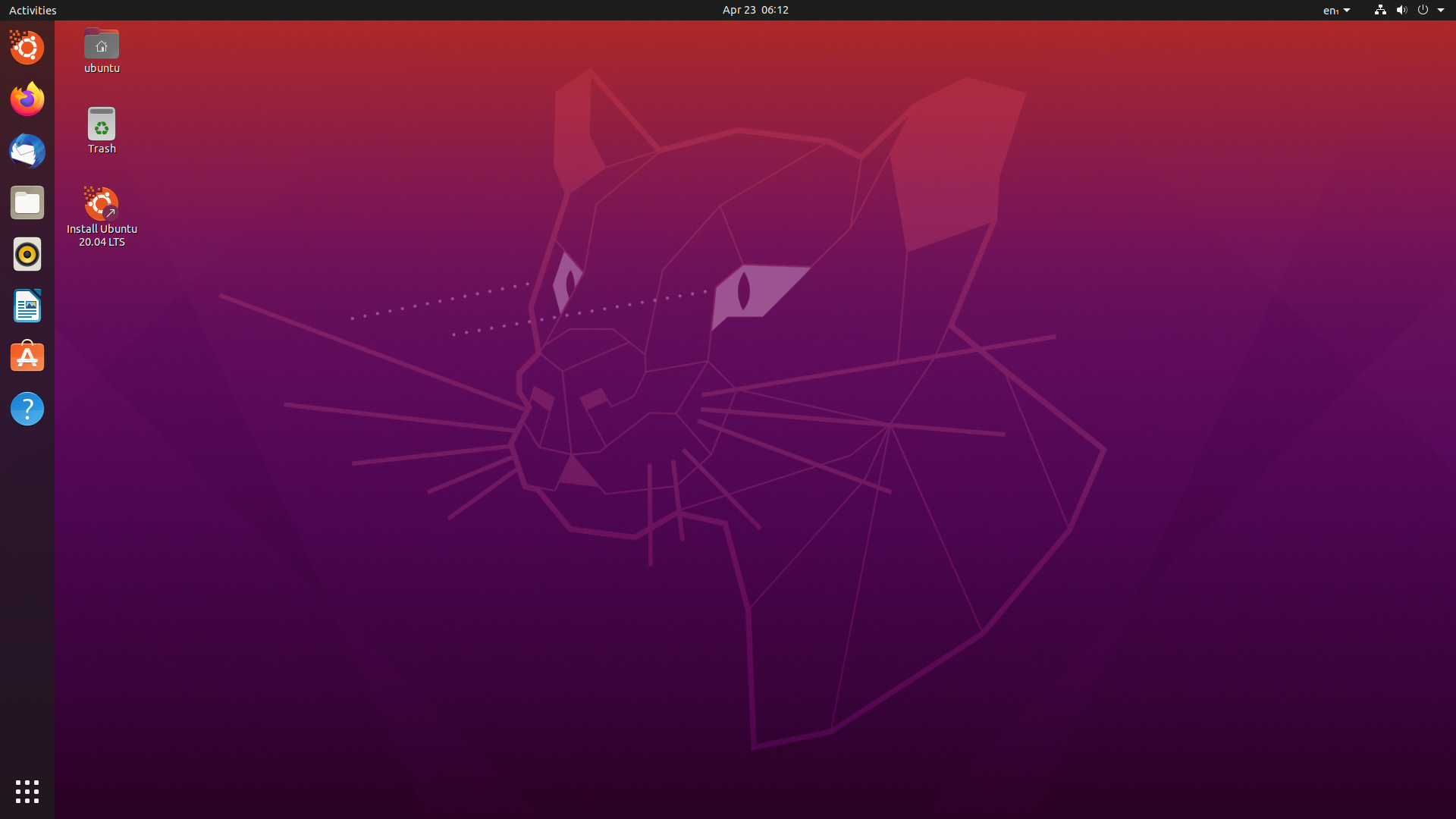 Ubuntu 20.04 LTS (Focal Fossa) mit Gnome 3.36
