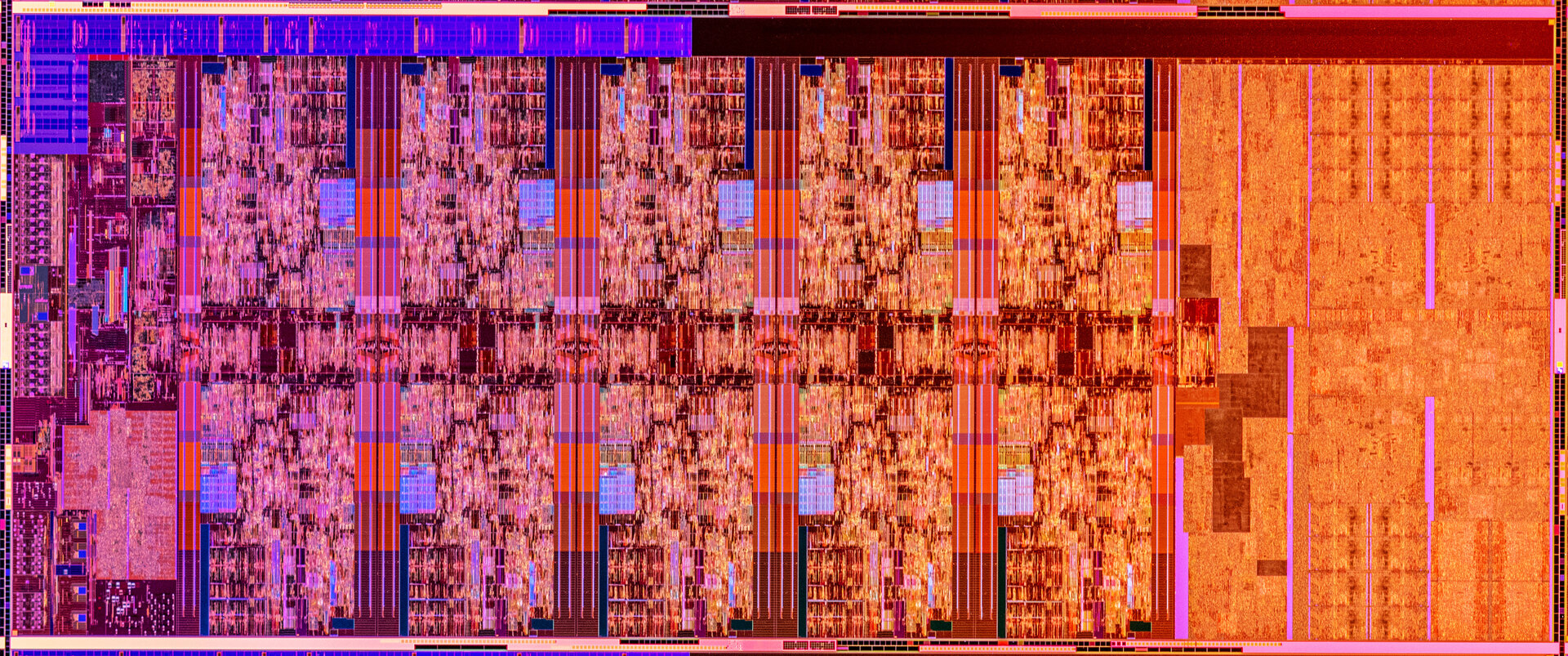 Die-Shot des Intel Comet Lake-S mit zehn Kernen