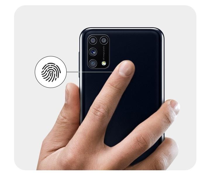 Samsung Galaxy M31: Fingerabdrucksensor