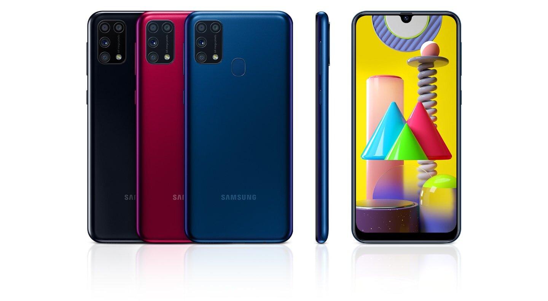 Samsung Galaxy M31: In drei Farben