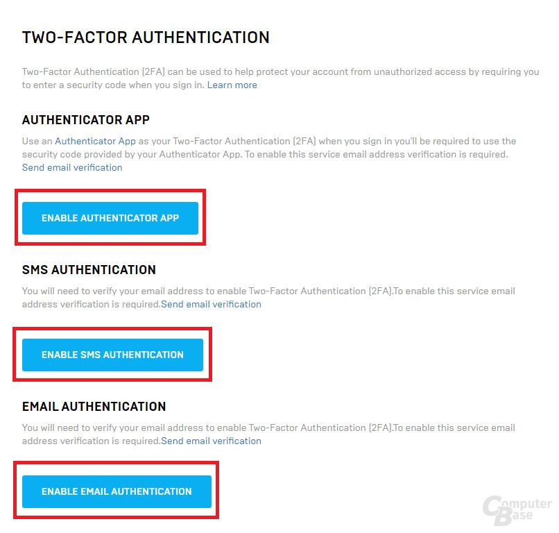 Zwei-Faktor-Authentifizierung (2FA) ist ist für Gratisspiele vorerst Pflicht