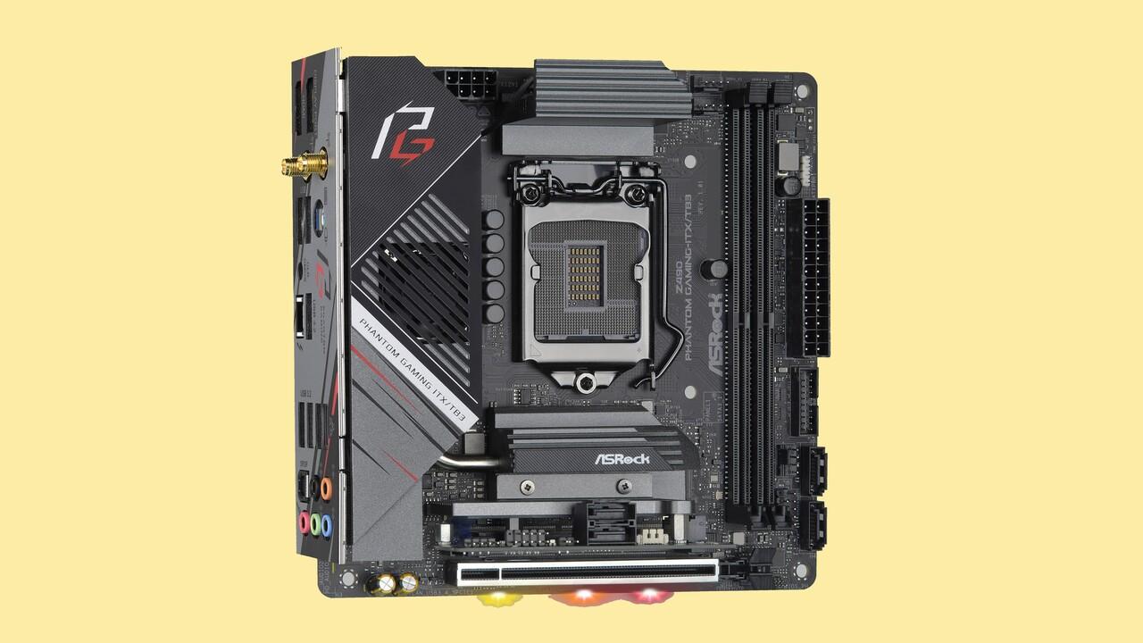 Phantom-Gaming-Velocita: Neue Z490-Platine von ASRock, Mini-ITX voll bepackt