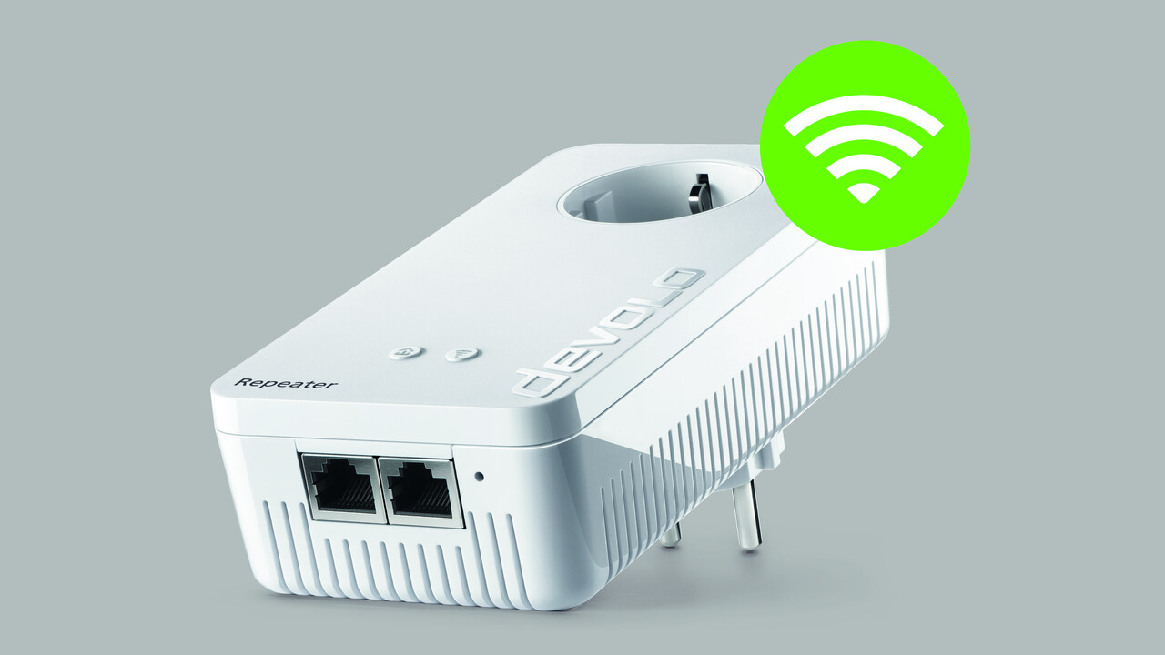 Devolo: WLAN-ac-Repeater mit LAN und integrierter Steckdose