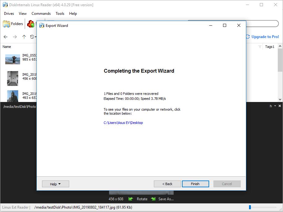 DiskInternals Linux Reader – Linux files saved on Windows computer