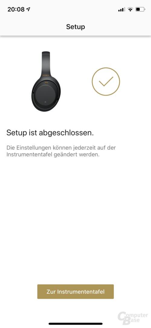 Sony Headphones-Connect-App mit WH-1000XM3