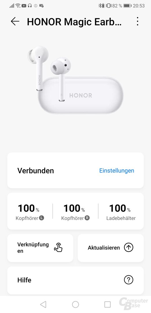 Huawei AI-Life-App mit Honor Magic Earbuds