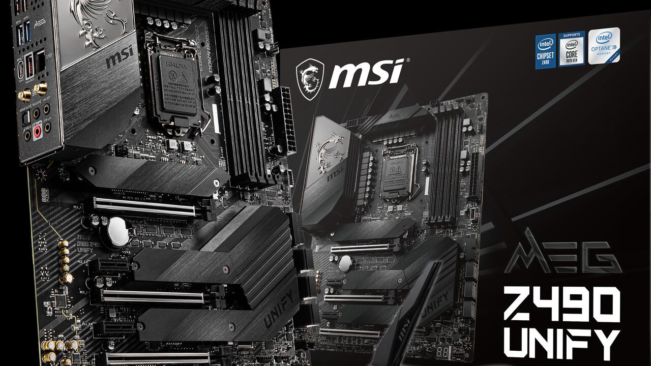 MSI MEG Z490 und Z490i Unify: Schwarze Mainboards verzichten auf RGB
