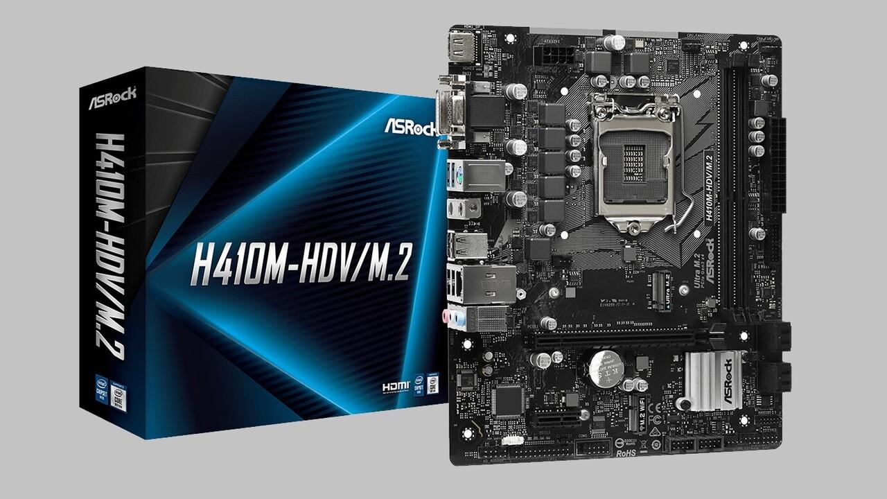 Budget-Mainboards: ASRocks erste Platinen mit H410-Chipsatz in Bildern